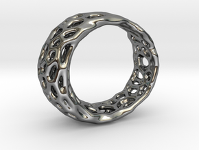 Frohr Design Radiolaria Ring in Fine Detail Polished Silver