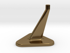 Model Stand / 3mm diameter on top in Polished Bronze