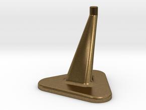 50mm Model Stand / top diameter= 6mm in Natural Bronze