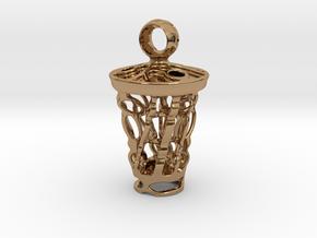 tritium: Witch Lantern vial pendant keyfob in Polished Brass