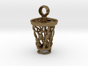 tritium: Witch Lantern vial pendant keyfob in Polished Bronze