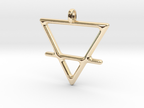 EARTH Alchemy Jewelry Symbol Pendant in 14K Yellow Gold