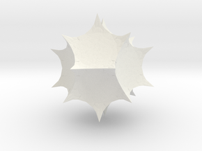 Mathematica 2 Spikey in White Natural Versatile Plastic