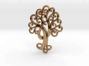 Life Tree Pendant in Polished Brass