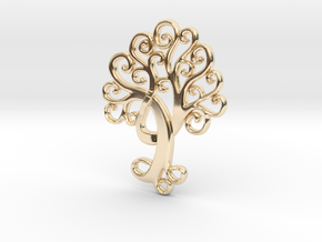 Life Tree Pendant in 14k Gold Plated Brass