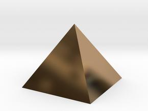 Harmonic Pyramid in Polished Brass