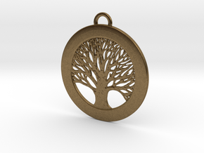Tree of Life Pendant Small in Natural Bronze