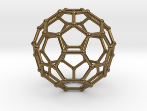 0369 Truncated Icosahedron V&E (a=1cm) #002 in Polished Bronze
