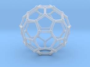 0369 Truncated Icosahedron V&E (a=1cm) #002 in Frosted Ultra Detail