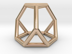 0267 Truncated Tetrahedron E (a=1cm) #001 in 14k Rose Gold