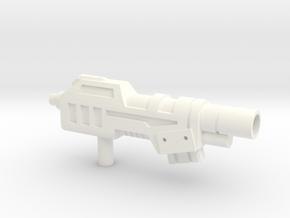 Devastator Gun Hollow  in White Strong & Flexible Polished
