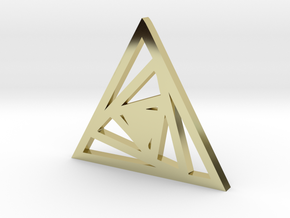 Triangle Pendant- Sacred Geometry Collection in 18k Gold