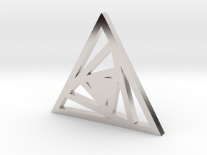 Triangle Pendant- Sacred Geometry Collection in Rhodium Plated Brass