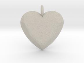 Heart Ornament in Natural Sandstone