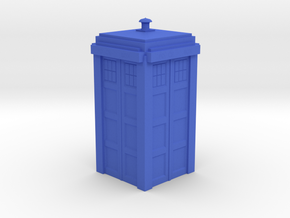 Dr. Who Tardis in Blue Strong & Flexible Polished
