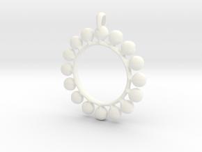 GOLD Alcemy Symbol Jewelry Pendant in White Processed Versatile Plastic