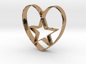 Heartbound star in Polished Brass