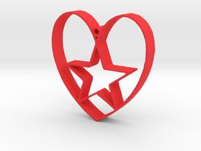 Heartbound star in Red Processed Versatile Plastic