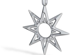 STAR OF VENUS Jewelry Symbol Pendant. in Polished Bronze Steel
