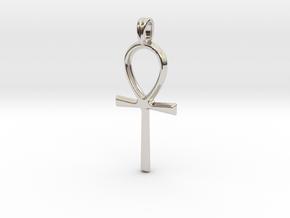 Ankh Symbol Jewelry Pendant in Platinum