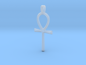 Ankh Symbol Jewelry Pendant in Smooth Fine Detail Plastic