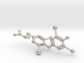 Levothyroxine (L-thyroxine, T4) Molecule in Platinum