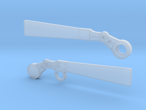 S Scale Semaphore Blades   in Smooth Fine Detail Plastic