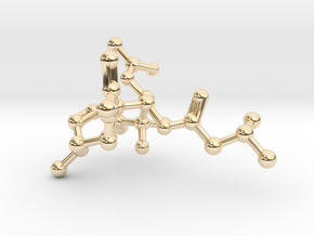 Neurolenin B Molecule Necklace in 14K Yellow Gold