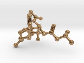 Neurolenin B Molecule Necklace in Polished Brass