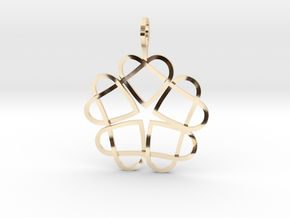 CODE SL04Z4R2 - PENDANT in 14k Gold Plated