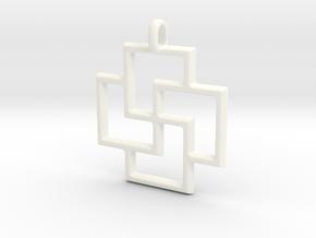 Tursaansydan Jewelry Symbol Pendant in White Processed Versatile Plastic