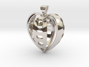 Heart pendant v.2 in Platinum
