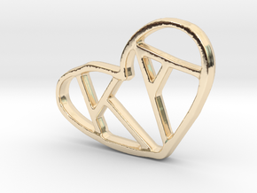 Love Pendant Pt.2 in 14k Gold Plated Brass