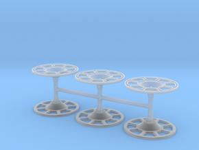 Set of 6 Brake wheels in Smoothest Fine Detail Plastic