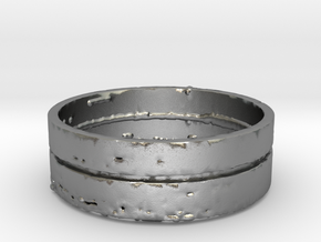 """Splinter"" Mens Ring (Size 10) in Raw Silver"