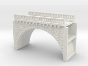 ZV1M1 Modular viaduct 1 track in White Natural Versatile Plastic