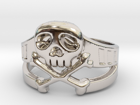 Space Captain Harlock | Ring size 10 in Rhodium Plated Brass: 10 / 61.5