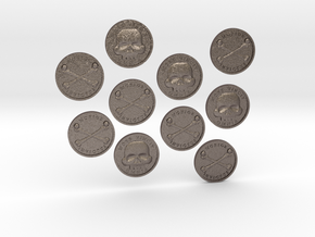 TEN Coins of Acheron in Polished Bronzed Silver Steel