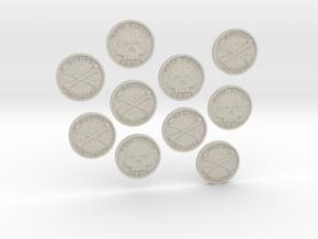 TEN Coins of Acheron in Natural Sandstone