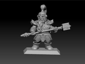 Dwarf Warrior 35mm Nº2 in Smooth Fine Detail Plastic