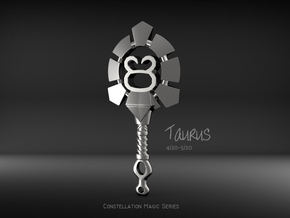 Taurus[Constellation Magic Series] - Key Style in Fine Detail Polished Silver