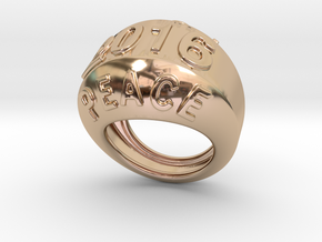 2016 Ring Of Peace 26 - Italian Size 26 in 14k Rose Gold Plated Brass