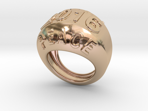 2016 Ring Of Peace 28 - Italian Size 28 in 14k Rose Gold Plated Brass