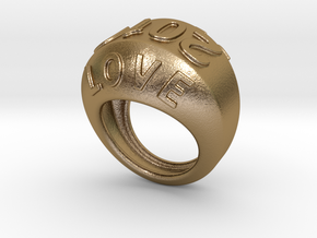 2016 Ring Of Peace 29 - Italian Size 29 in Polished Gold Steel