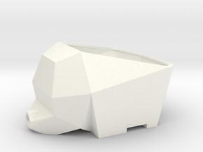 Cutlery drainer - 3d Elephant in White Processed Versatile Plastic