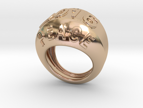 2016 Ring Of Peace 30 - Italian Size 30 in 14k Rose Gold Plated Brass