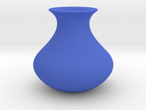 Wide Vase in Blue Processed Versatile Plastic