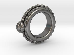 Alien Egg Ring Alfa Ver2 in Polished Nickel Steel