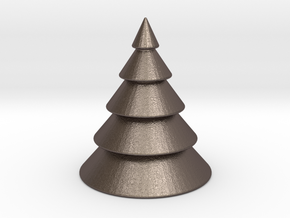 Christmas Tree in Polished Bronzed Silver Steel