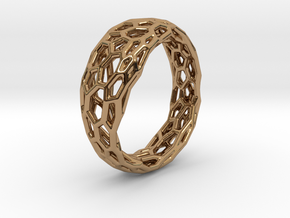 Voronoi ring 1.6cm(interior) in Polished Brass